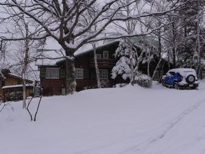 Snow in the pension