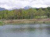 まるやち湖からの阿弥陀岳・横岳
