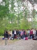 森に響く子供たちの声