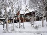 原村は雪景色