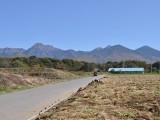 村道からの八ヶ岳